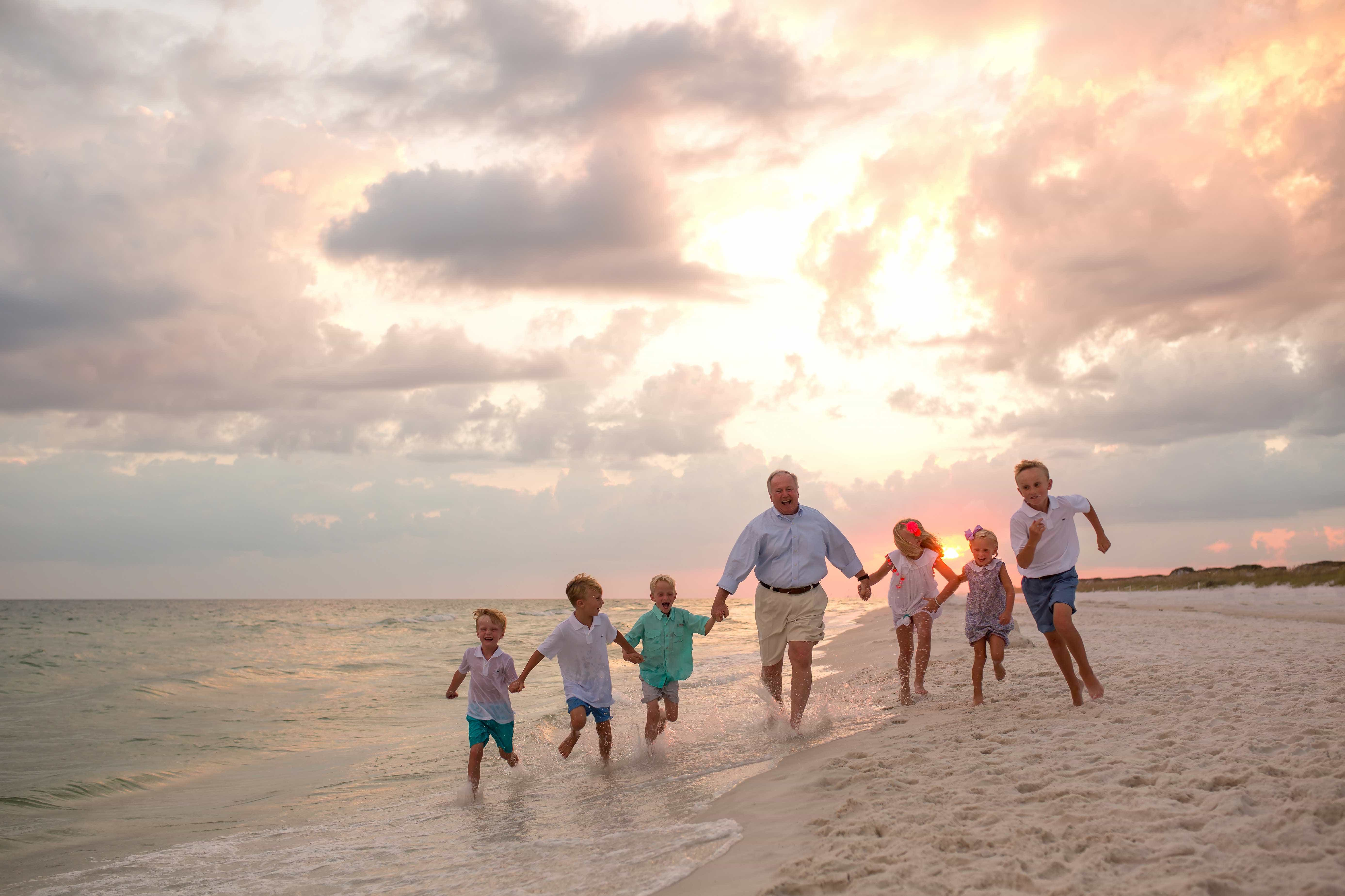 Beach Pictures with Grandparents