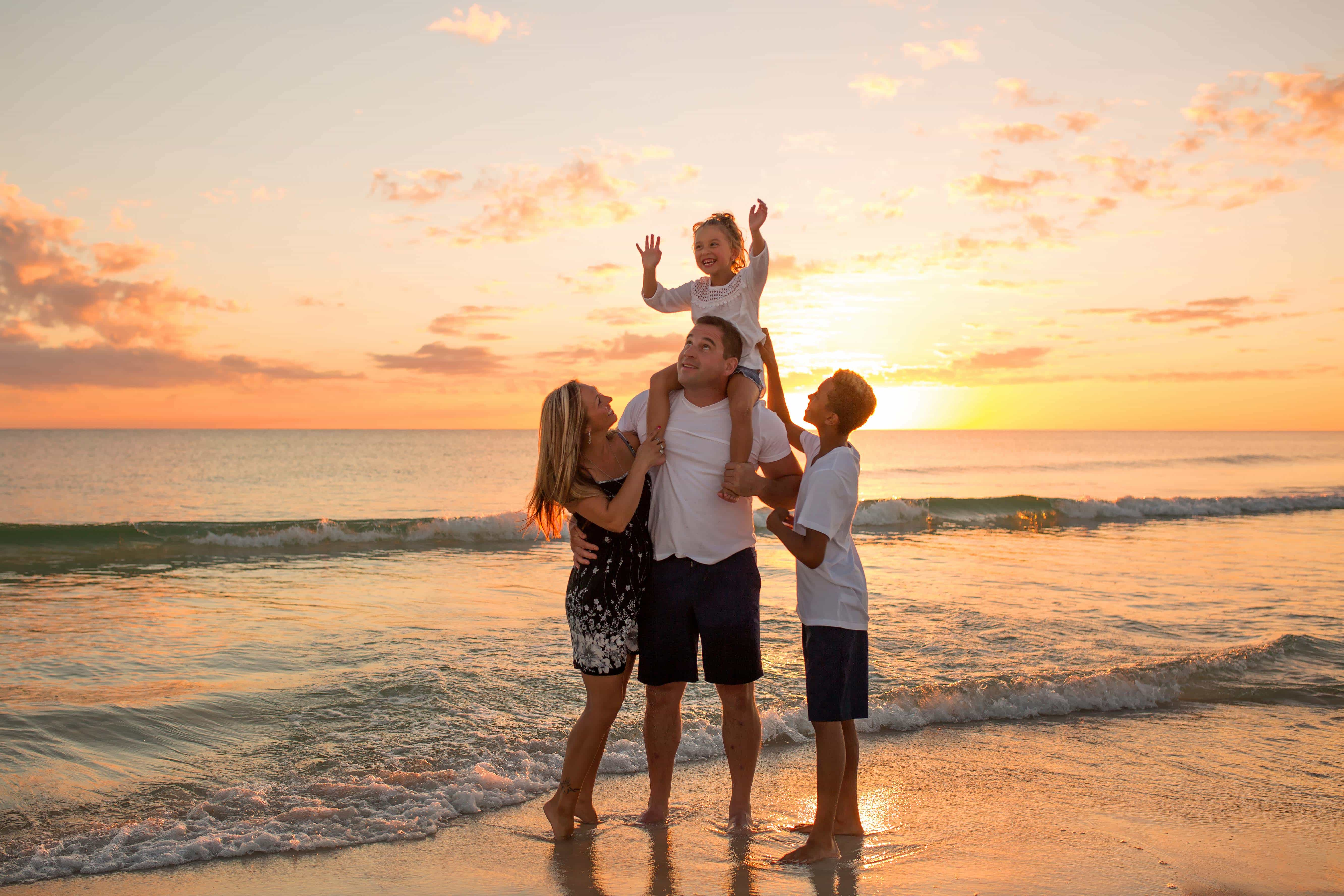 Family Sunset Beach Photography