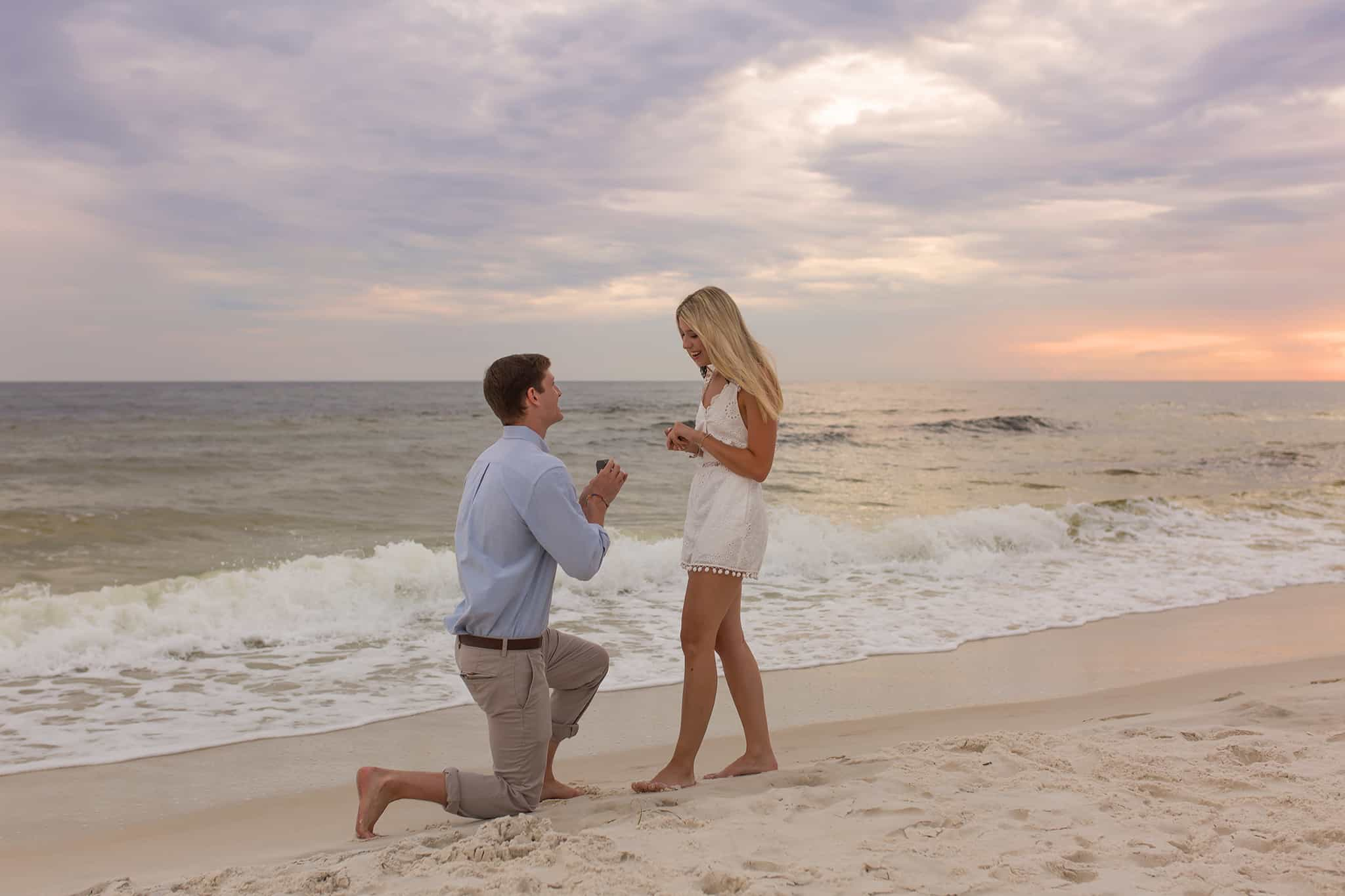 Panama City Beach Surprise Engagement Pictures