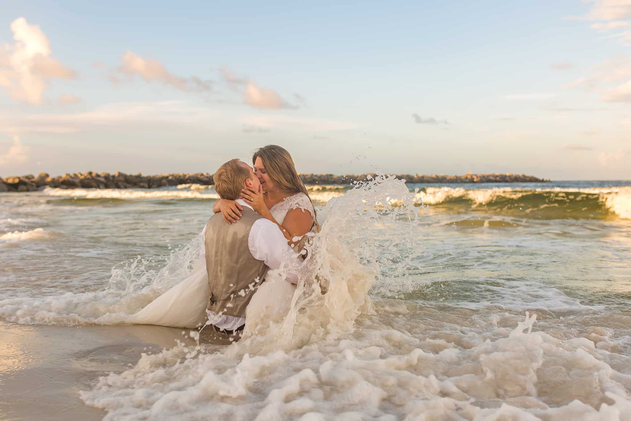 Panama City Beach Trash the Dress Photos