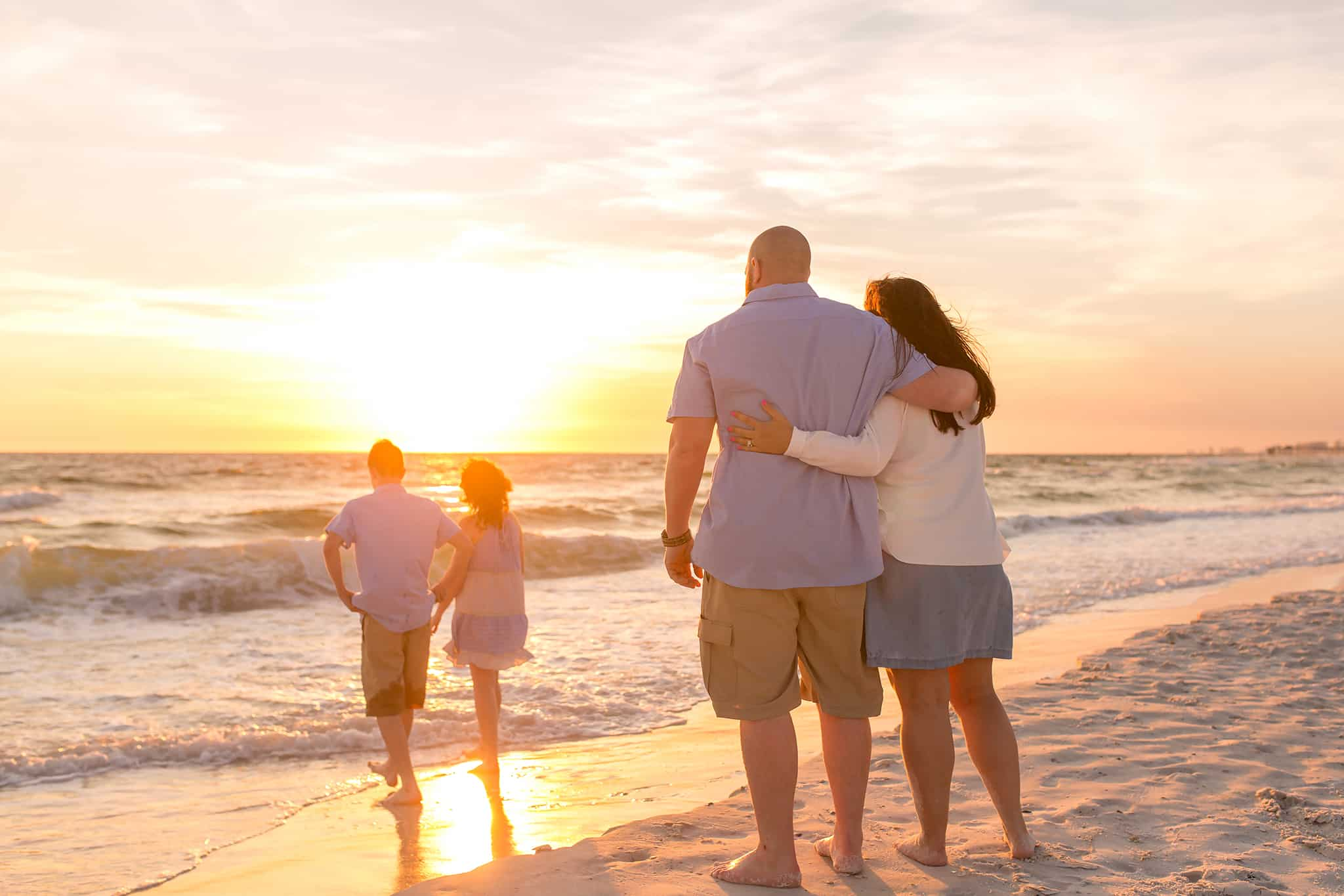 Panama City Beach Sunset Family Photography
