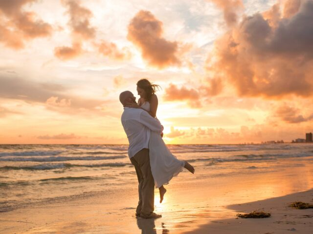 Beach Sunset Wedding Photographer