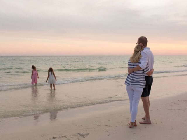 Family Beach Sunset Photography Sessions