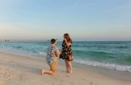 Beach Engagement Photos in Panama City Beach