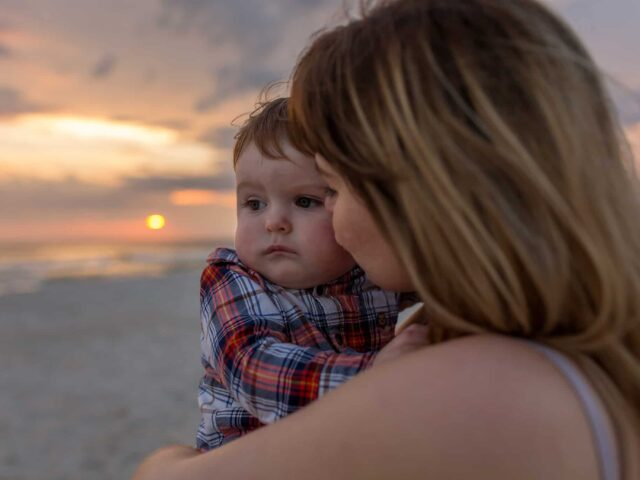 Mommy and Me Beach Photo Session